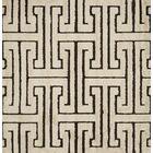 Dania White/Black Area Rug Rug Size: Square 7'7