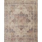 Dietrick Hand-Hooked Ivory/Red Area Rug Rug Size: Rectangle 12' x 15'