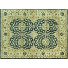 Kirtley Estate Hand-Knotted Blue/Ivory Area Rug Rug Size: Rectangle 5'6
