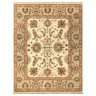 Durden Hand-Knotted Ivory/Gold Area Rug Rug Size: Round 8'