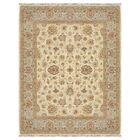 Durden Hand-Knotted Ivory/Blue Area Rug Rug Size: Rectangle 3' x 5'