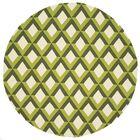 Danko Hand-Hooked Green/Ivory Indoor/Outdoor Area Rug Rug Size: Round 7'10