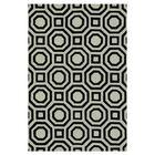 Maziarz Hand-Tufted Ivory/Black Area Rug Rug Size: Rectangle 3'6