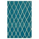 Mazur Hand-Woven Azure Blue Area Rug Rug Size: Rectangle 7'9
