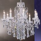 Letitia 8-Light Candle Style Chandelier Finish: Chrome, Crystal Type: Swarovski Spectra