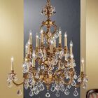 Chateau 18-Light Candle Style Chandelier Finish: Aged Bronze, Crystal Type: Swarovski Elements