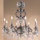 Chateau 8-Light Candle Style Chandelier Finish: French Gold, Crystal Type: Crystalique Black