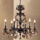 Chateau 6-Light Candle Style Chandelier Crystal Type: Swarovski Elements Golden Teak, Finish: French Gold