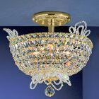 Crown Jewels 6-Light Semi-Flush Mount Crystal Type: Swarovski Spectra