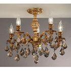 Chateau 5-Light Semi-Flush Mount Crystal Type: Swarovski Spectra, Finish: French Gold