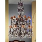 Majestic 20-Light Shaded Chandelier Crystal Type: Crystalique-Plus, Finish: French Gold