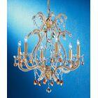 Aurora 6-Light Candle Style Chandelier Crystal Type: Swarovski Spectra, Finish: Olde Gold