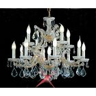 Maria Thersea 13-Light Candle Style Chandelier Crystal Type: Swarovski Elements, Finish: Olde World Gold