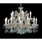 Maria Thersea 16-Light Candle Style Chandelier Crystal Type: Crystalique, Finish: Olde World Gold
