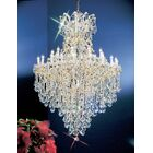 Maria Thersea 31-Light Candle Style Chandelier Crystal Type: Swarovski Elements, Finish: Olde World Gold