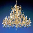 Princeton 48-Light Chandelier Finish: 24K Gold Plate, Crystal Type: Swarovski Elements