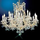 Maria Thersea 19-Light Candle Style Chandelier Crystal Type: Swarovski Elements, Finish: Olde World Gold