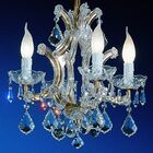 Maria Thersea 4-Light Candle Style Chandelier Crystal Type: Swarovski Elements, Finish: Olde World Gold