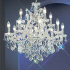 Maria Thersea 13-Light Candle Style Chandelier Finish: Chrome, Crystal Type: Crystalique