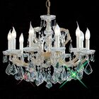 Maria Thersea 10-Light Candle Style Chandelier Crystal Type: Swarovski Elements, Finish: Olde World Gold