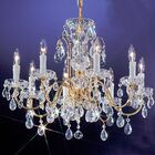 Letitia Traditional 8-Light Candle Style Chandelier Finish: Gold Plated