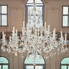 Via Firenze 30-Light Candle Style Chandelier Crystal Type: Swarovski Spectra Crystal, Finish: Millenium Silver