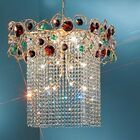 Foresta Colorita 12-Light Chandelier Finish: Silver Frost, Crystal Type: Black and Amethyst