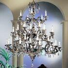 Princeton II 40-Light Candle Style Chandelier Crystal Type: Swarovski Spectra, Finish: Roman Bronze