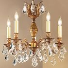 Chateau 5-Light Candle Style Chandelier Finish: Aged Bronze, Crystal Type: Swarovski Spectra