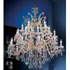 Rialto 25-Light Candle Style Chandelier Crystal Type: Swarovski Elements, Finish: Gold Plated