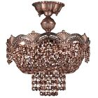 Regency II 3-Light Semi-Flush Mount Crystal Type: Swarovski Elements Golden Teak, Finish: Roman Bronze