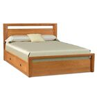Mansfield Storage Platform Bed Size: California King, Color: Smoke Cherry