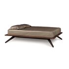 Astrid Platform Bed Size: King, Color: Walnut and Dark Chocolate Maple, Top Coat: Conventional