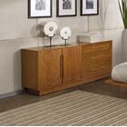Moduluxe Nightstand Color: Natural Walnut, Size: 35