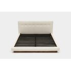 LRG Upholstered Platform Bed Size: King, Color: Foam Linen Blends