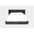 LRG Upholstered Platform Bed Size: King, Color: Charcoal Natural