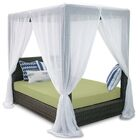 Palisades Queen Canopy Bed with Cushions Fabric: Kiwi