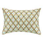Delphinium Embroidered Decorative Linen Lumbar Pillow Color: Menthe