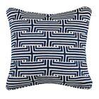 Labyrinth Linen Throw Pillow Color: Indigo