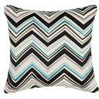 Lightning Linen Throw Pillow Color: Blue