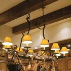 Handforged Oval 8-Light Shaded Chandelier