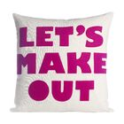 It Start With A Kiss Let's Make Out Throw Pillow Size: 22