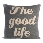 The Good Life Throw Pillow Color: Charcoal / White Felt, Size: 22