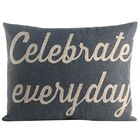 Celebrate Everyday Throw Pillow Color: Heather Grey / Oatmeal