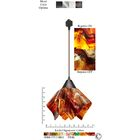 Signature� Flame 1-Light Novelty Pendant Finish: Brown, Size: Large, Shade Color: Begonia