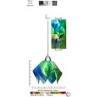 Signature� Flame 1-Light Novelty Pendant Size: Small, Finish: Nickel, Shade Color: Fern