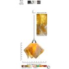 Signature� Flame 1-Light Novelty Pendant Size: Small, Finish: Nickel, Shade Color: Honeysuckle