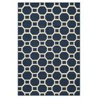 Aliz Hand-Woven Navy Area Rug Size: Rectangle 5' x 8'