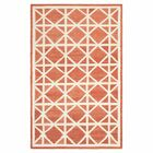 Dhurries Tan/Ivory Area Rug Rug Size: Rectangle 5' x 8'