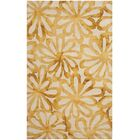 Hand-Tufted Beige & Gold Area Rug Rug Size: Rectangle 9' x 12'